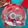 陶瓷纪念赏盘定做加字,办公室家居玄关装饰瓷盘摆件礼品