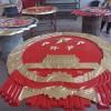 武汉市生产贴金警徽厂家4米